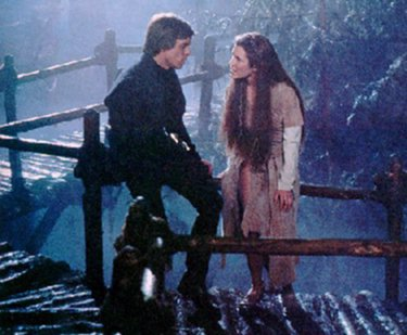 "screencap from Return of the Jedi, where Luke is telling Leia that he must leave to confront Vader, who is his father, and that, oh, yeah, he's your father too. Suprise! You're a Jedi, Leia! ""I know I should have told you sooner, but..."""